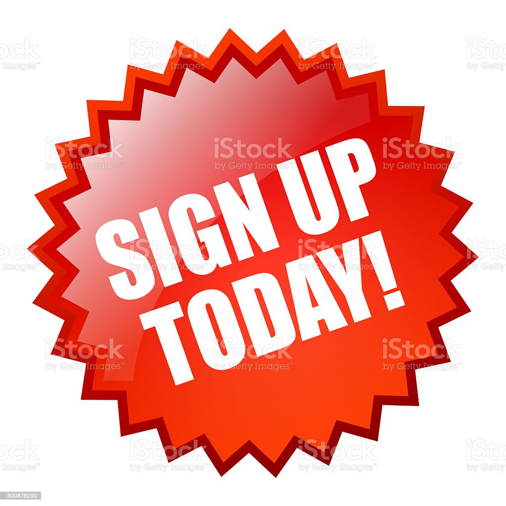 Sign up today star stock photo