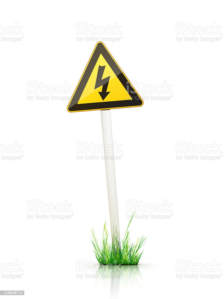 Sign – Warning stock photo
