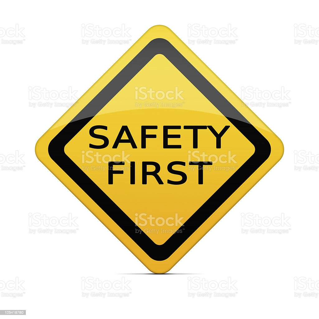 SAFETY FIRST sign with clipping path stock photo
