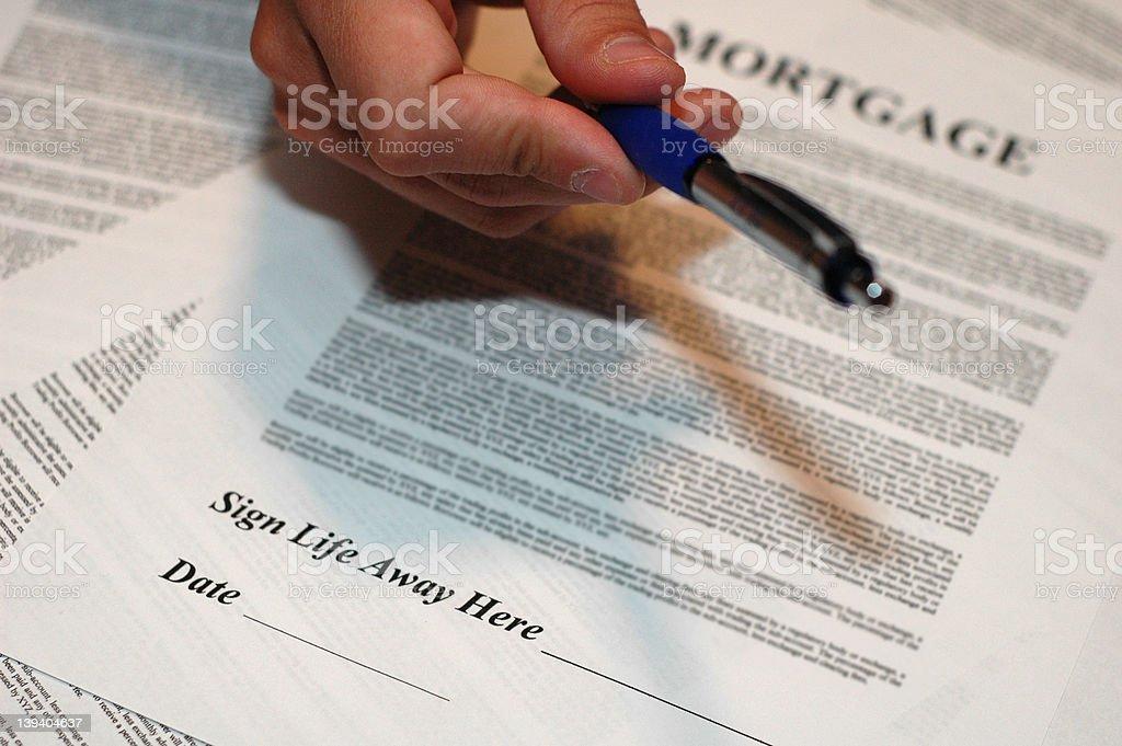 Sign Your Life Away 2 stock photo