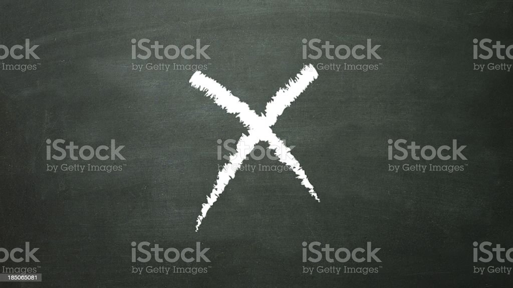 signage cross x royalty-free stock photo