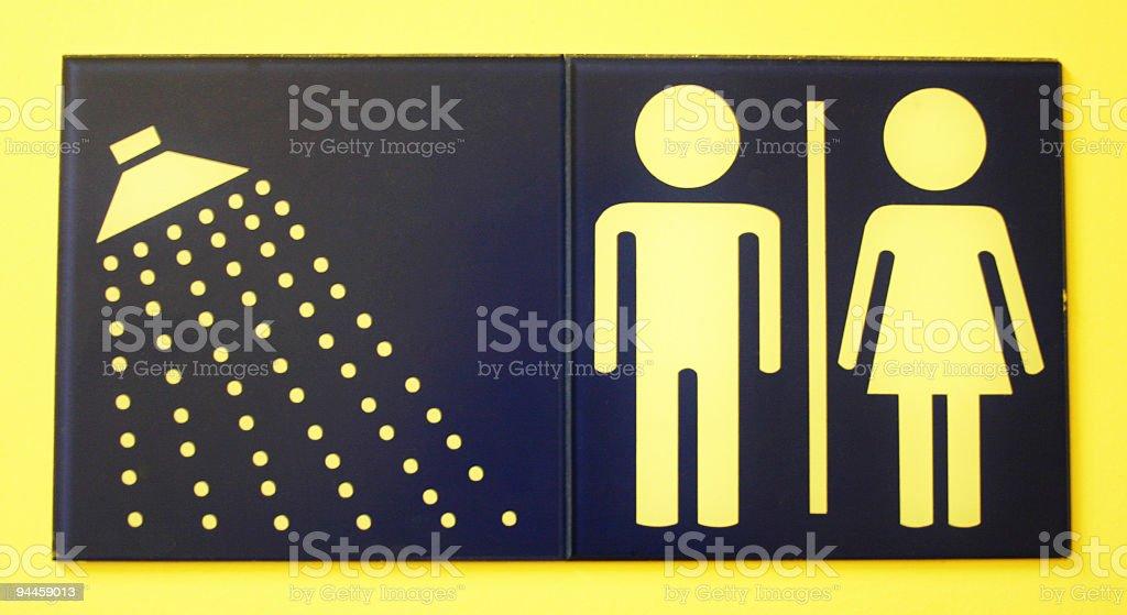 Signage - Shower / Toilet royalty-free stock photo