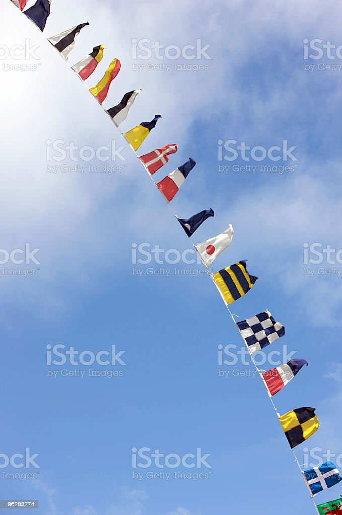Signal and National Flags royalty-free stock photo