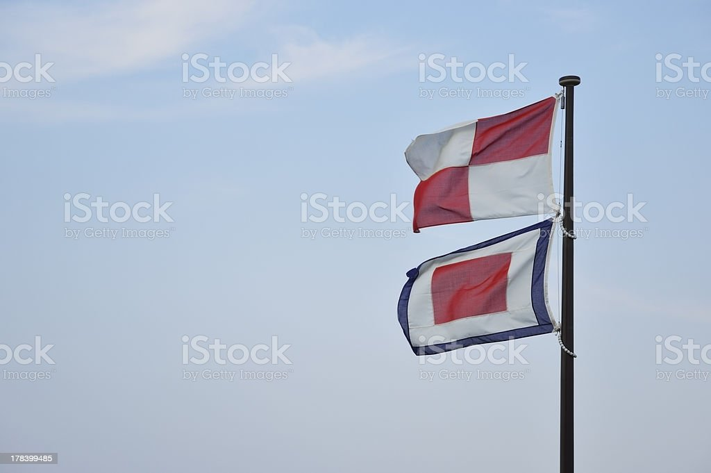 Signal fiags royalty-free stock photo