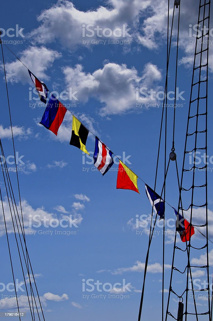 Signal Flags royalty-free stock photo