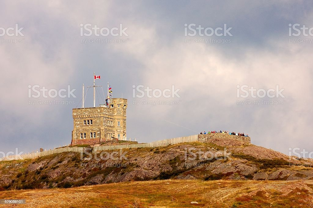 Signal Hill Overlook In St John's Newfoundland stock photo