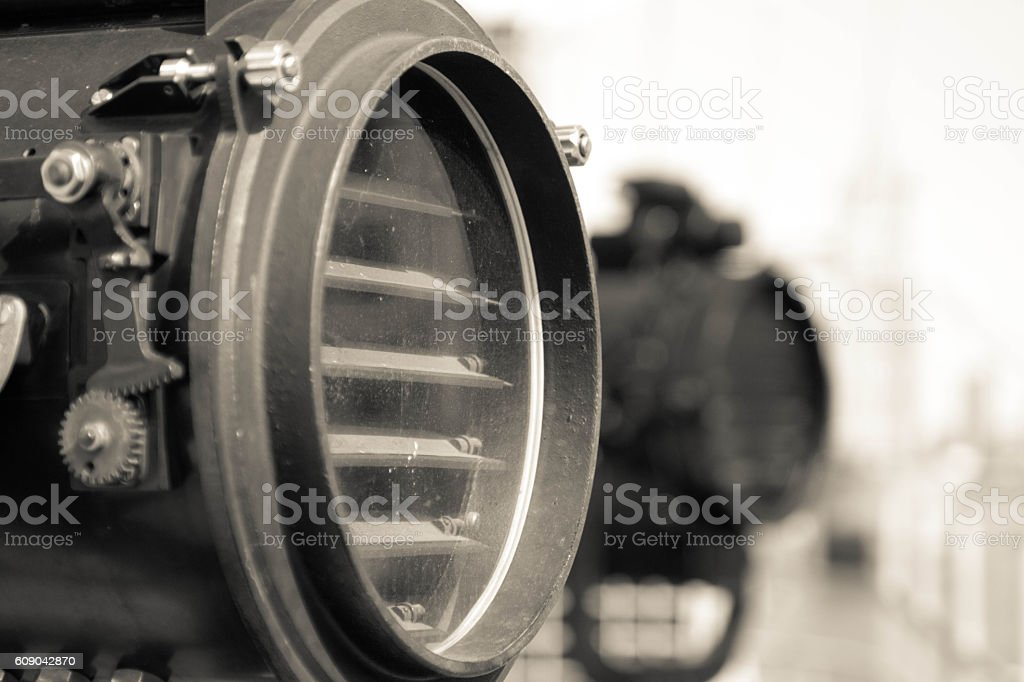 Signal lamps stock photo