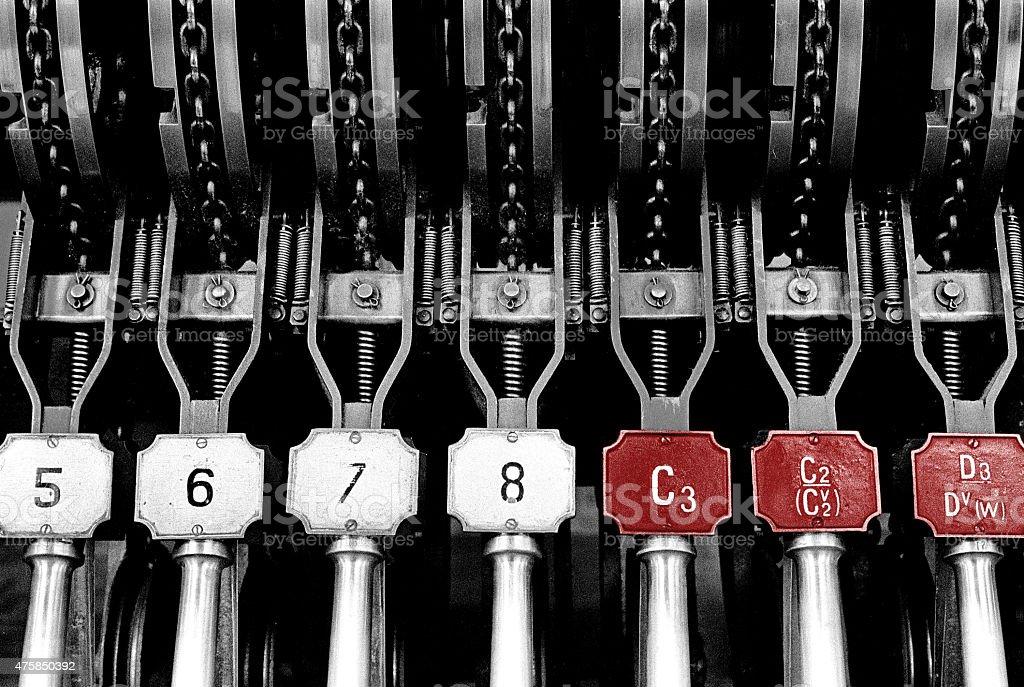 Signal levers stock photo