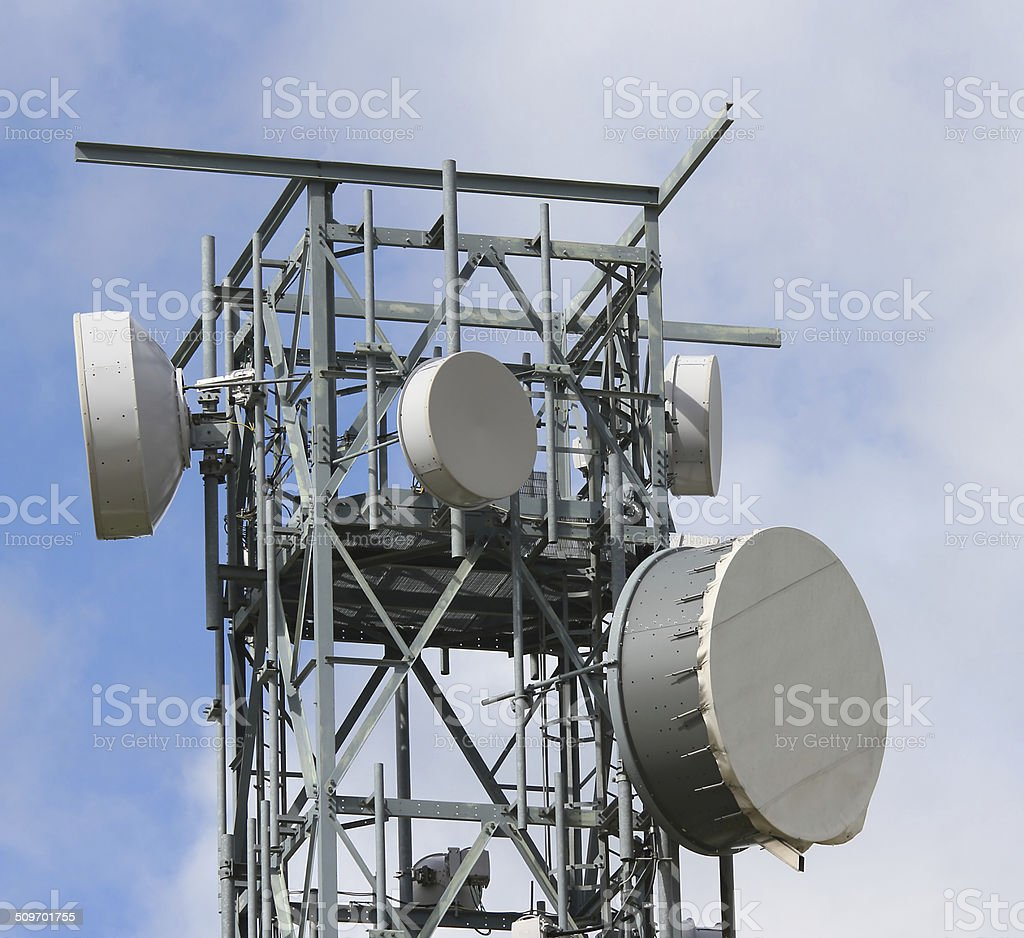 signal repeaters televisions and mobile phone signal stock photo
