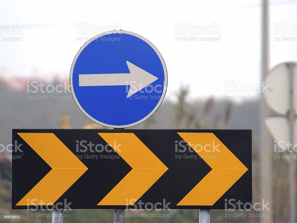 Signals of transit royalty-free stock photo