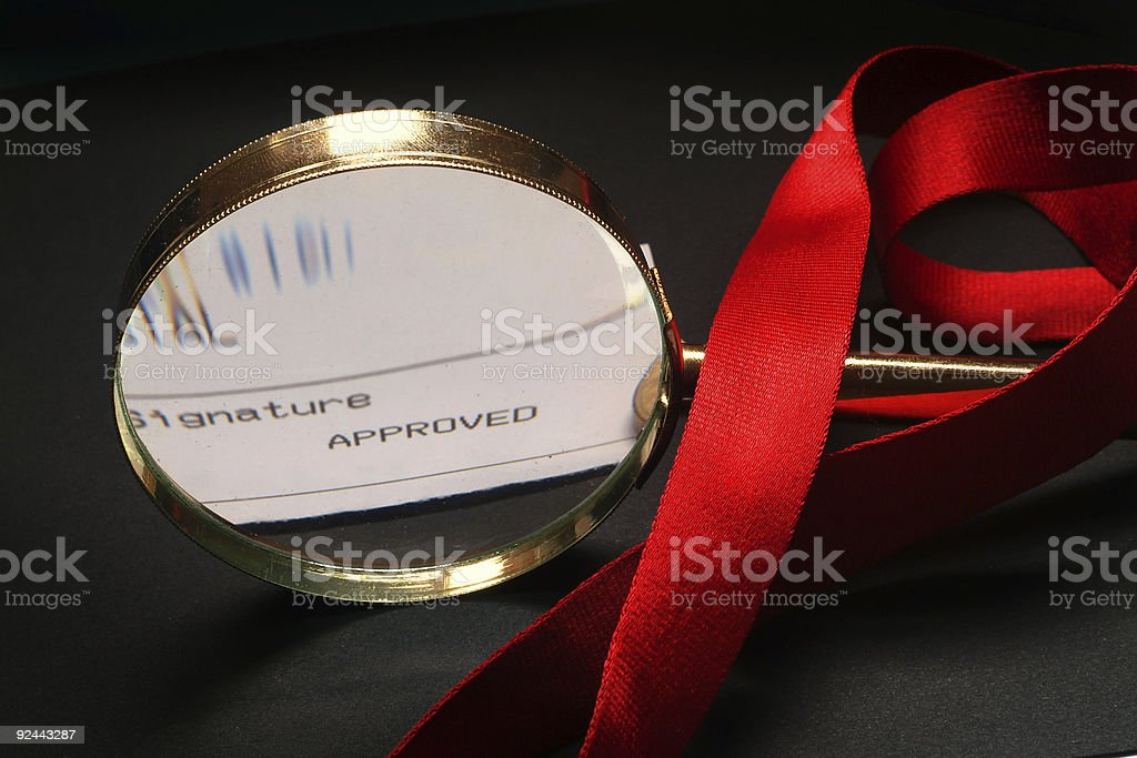 Signature Appoved royalty-free stock photo
