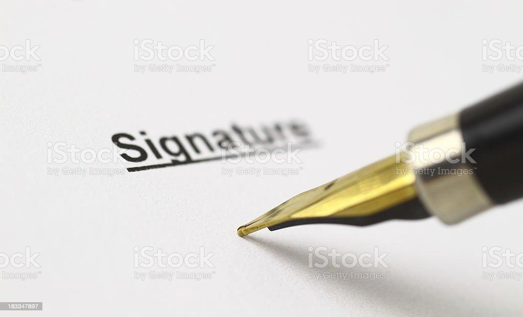 Signature area royalty-free stock photo