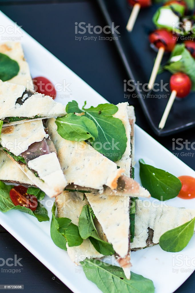 signature cuisine, close-up tortilla with meat stock photo