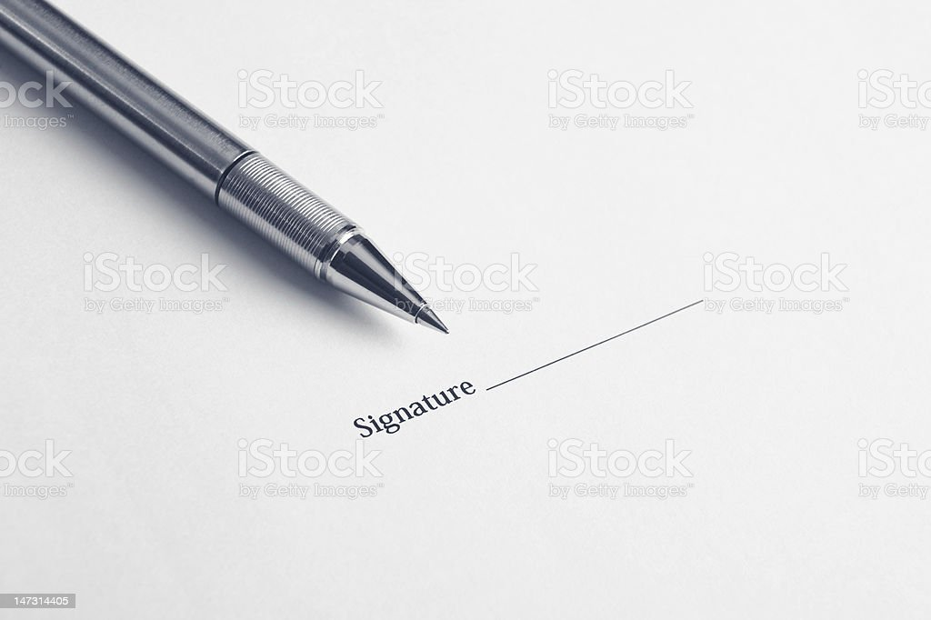 signature here royalty-free stock photo