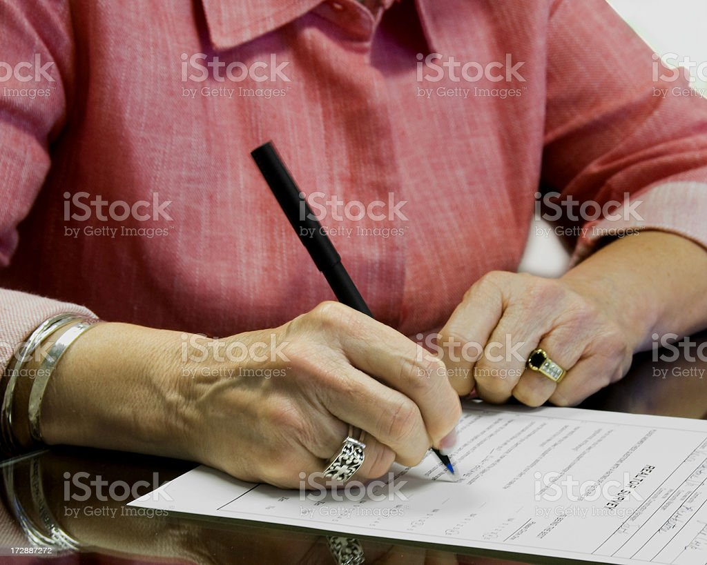 Signature stock photo
