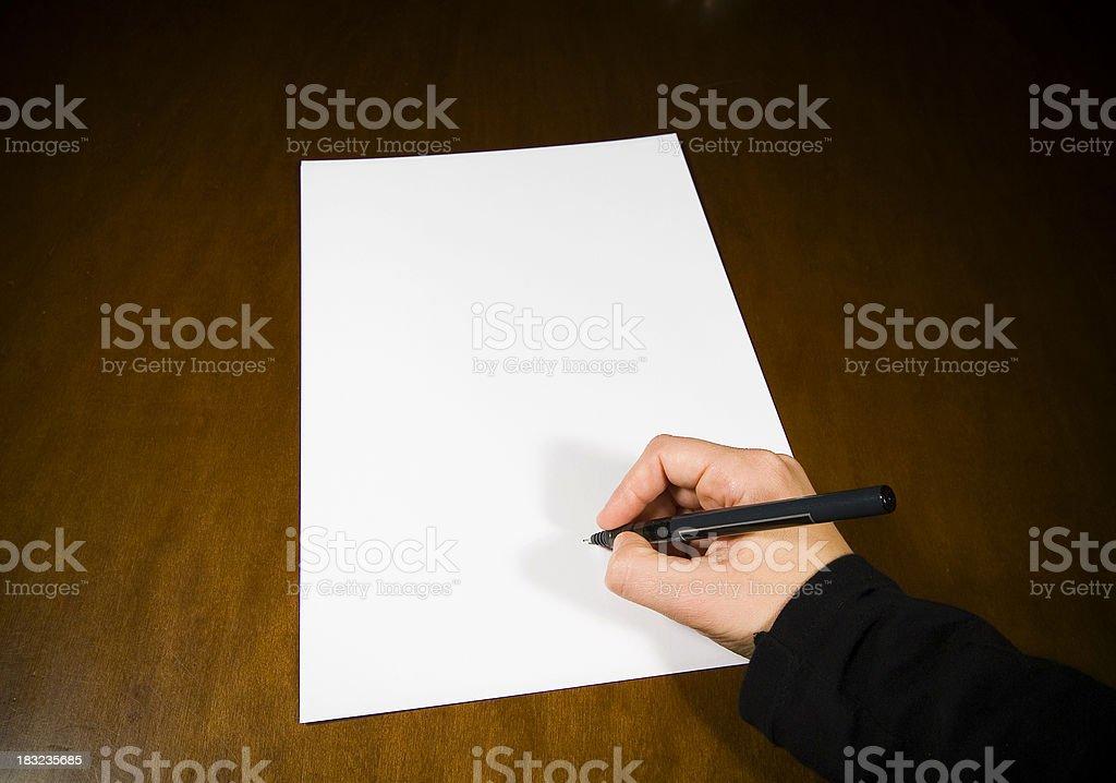 Signature royalty-free stock photo