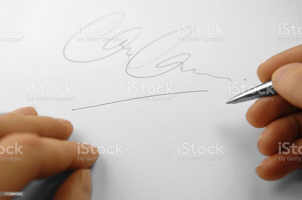 signature series royalty-free stock photo