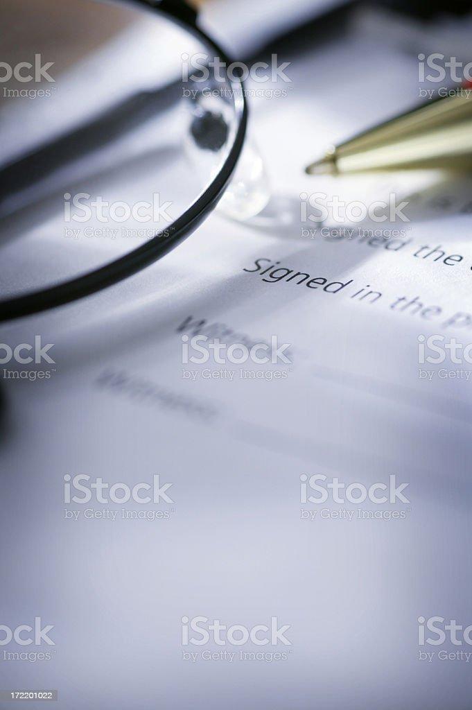 Signatures stock photo