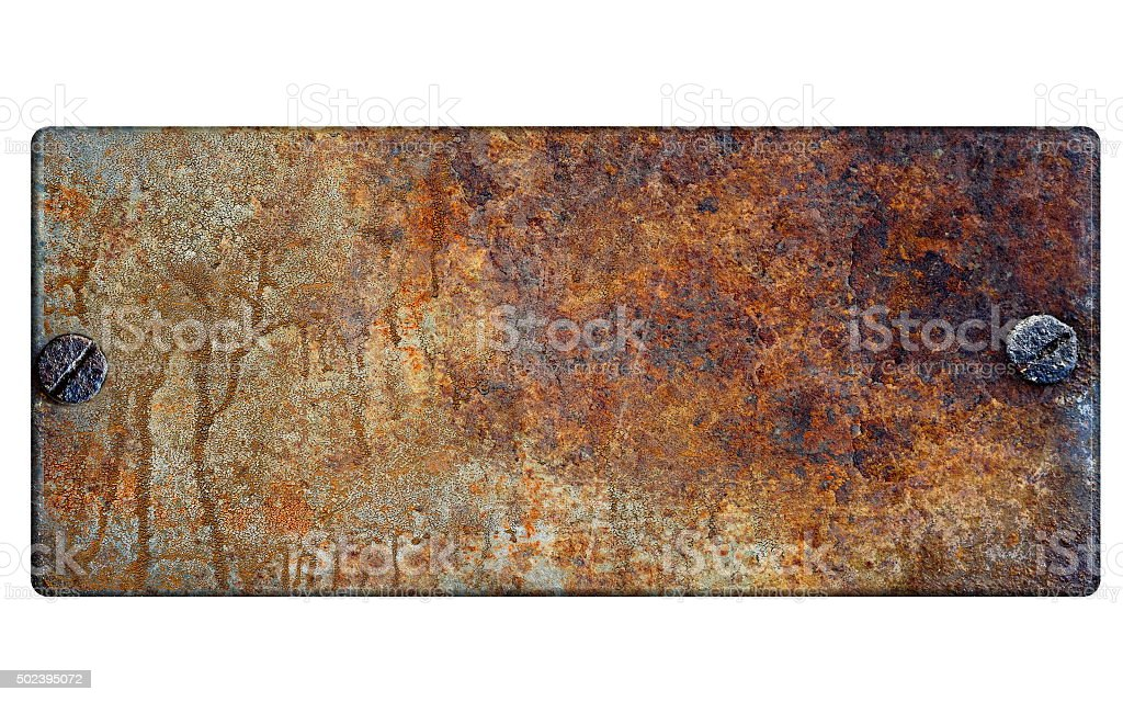 Signboard isolated on white stock photo