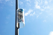 Signboard of free wifi in Barcelona, Spain