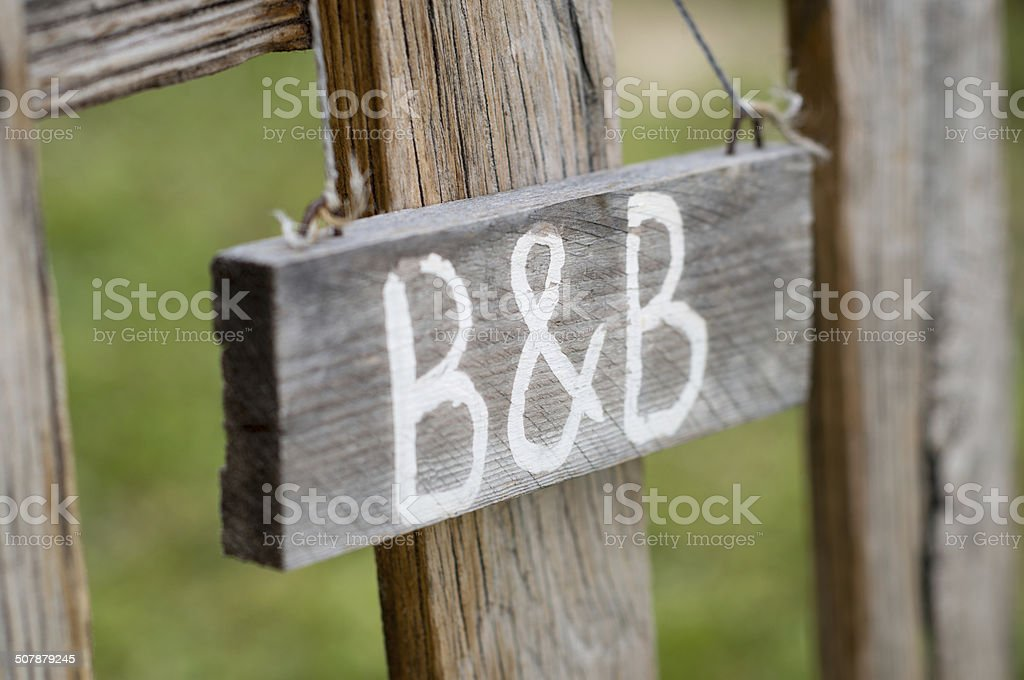 B&B Signboard stock photo