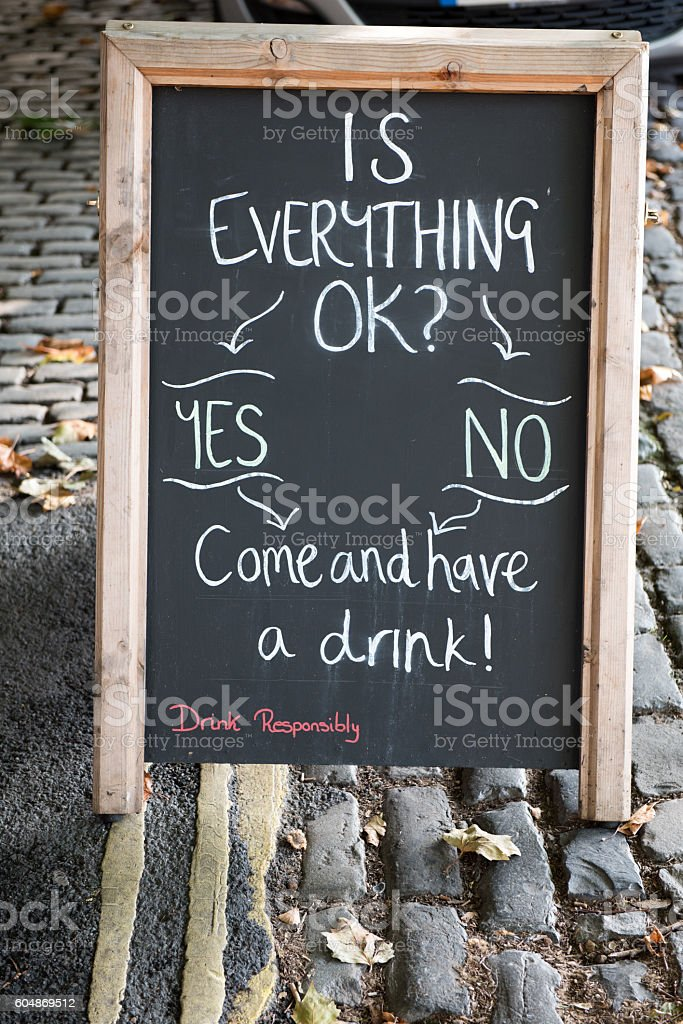 Signboard stock photo