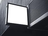 Signboard shop Mock up square shape display
