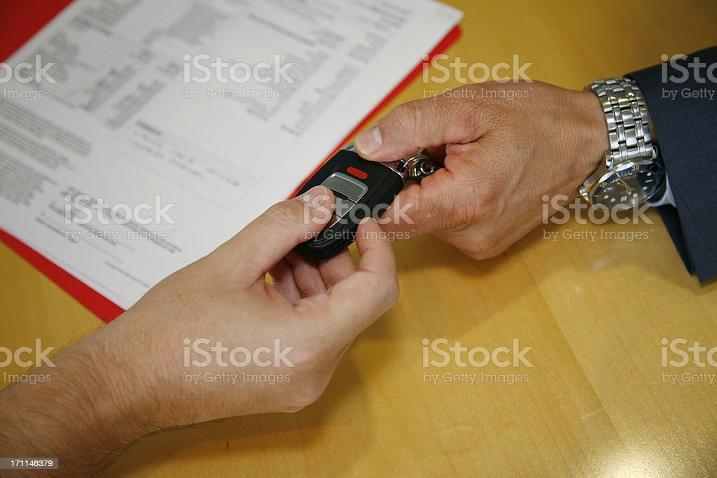Signed and Delivered; the New Car Key! royalty-free stock photo