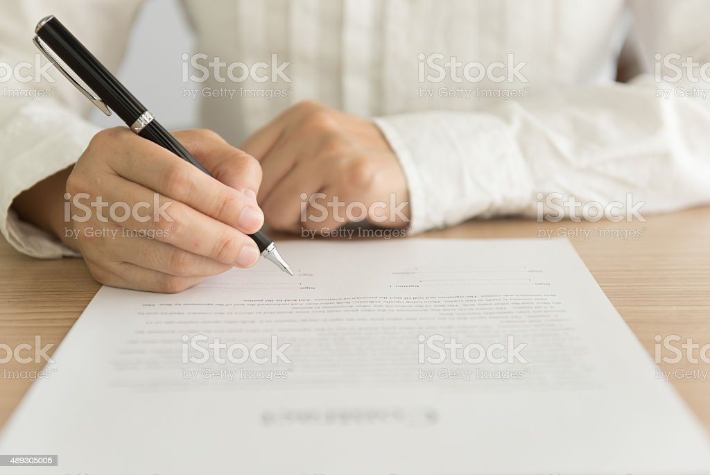signed approval stock photo