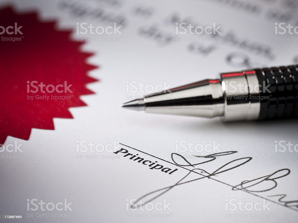Signed contract close up royalty-free stock photo