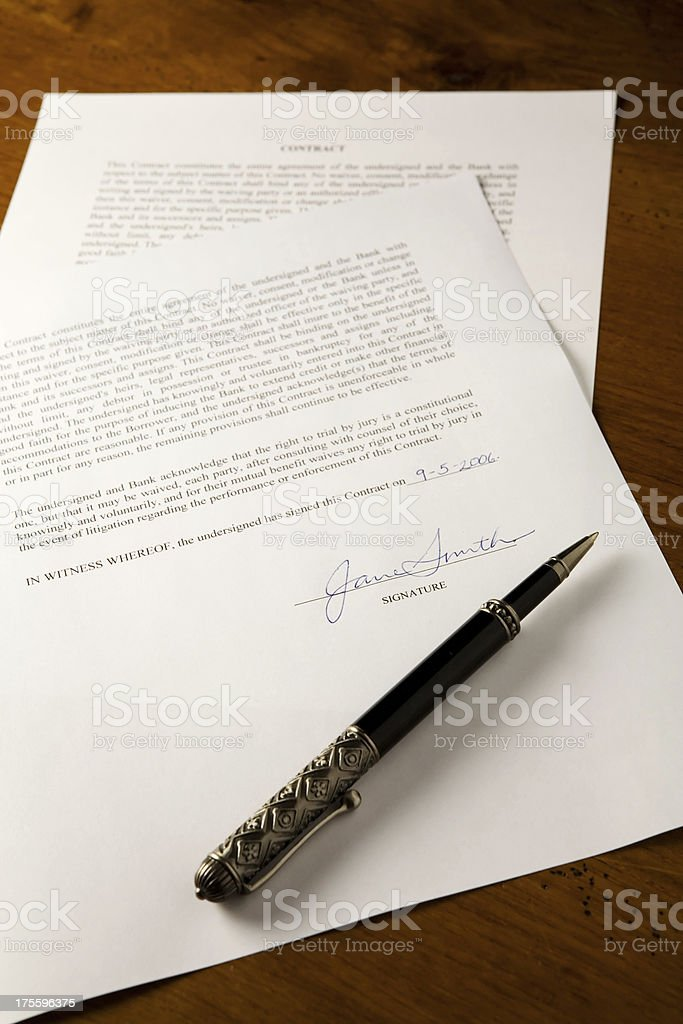 Signed Contract royalty-free stock photo