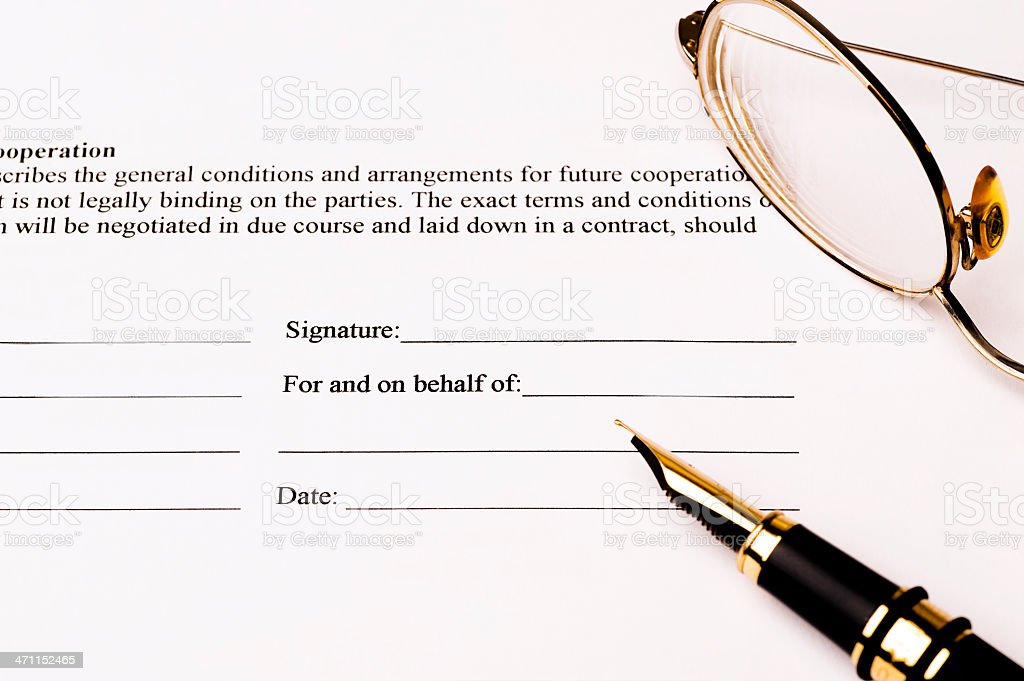 Signing a contract. royalty-free stock photo