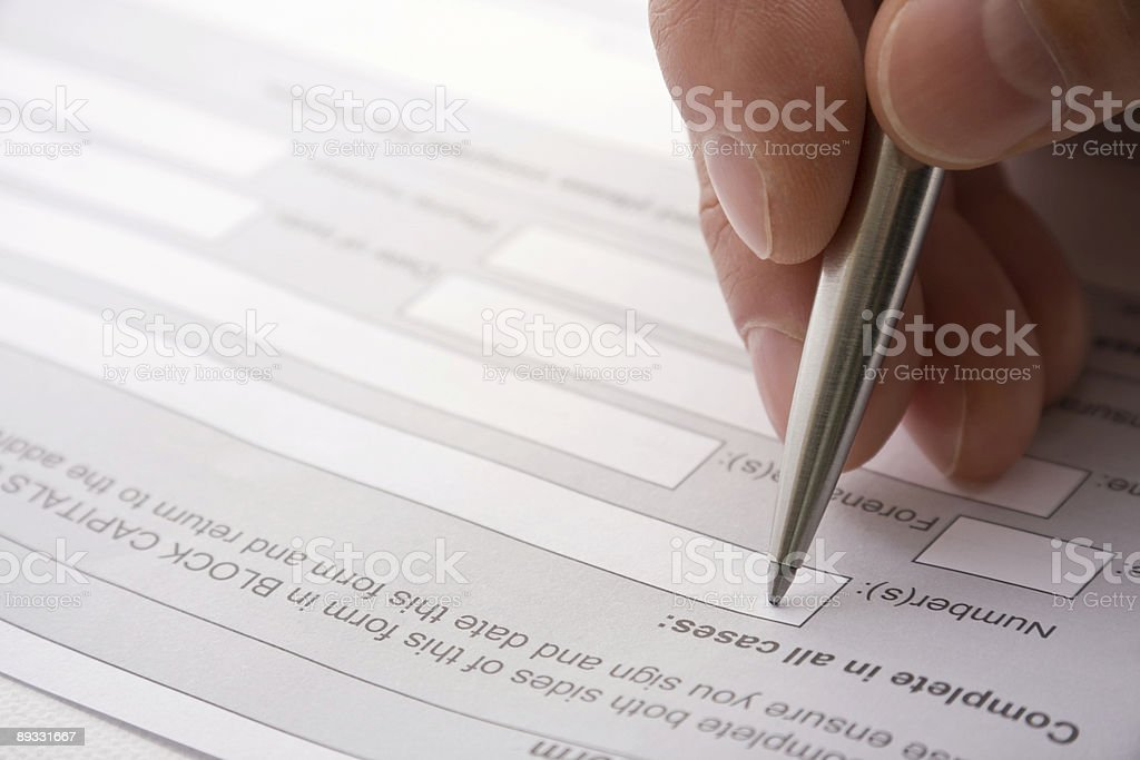 Signing a contract royalty-free stock photo