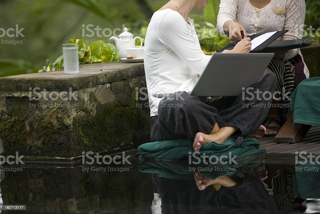 Signing bill royalty-free stock photo