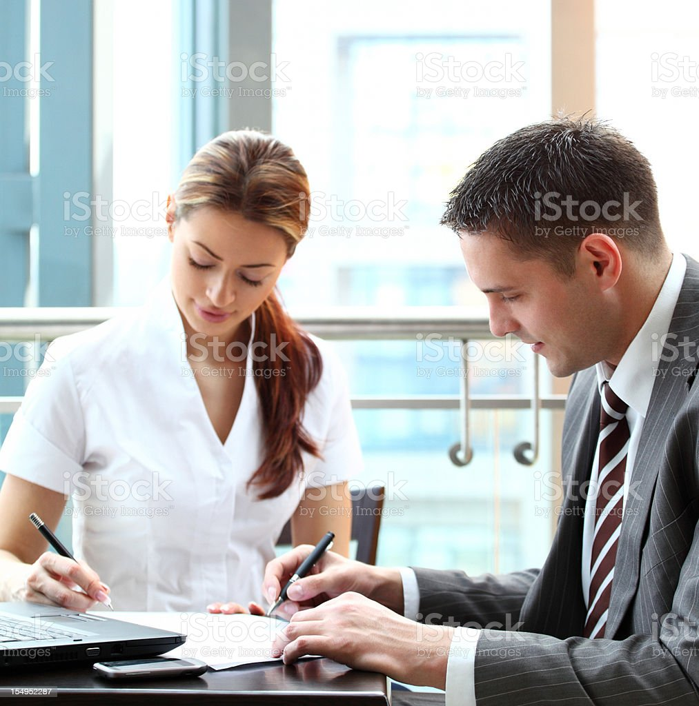 Signing contract papers. royalty-free stock photo