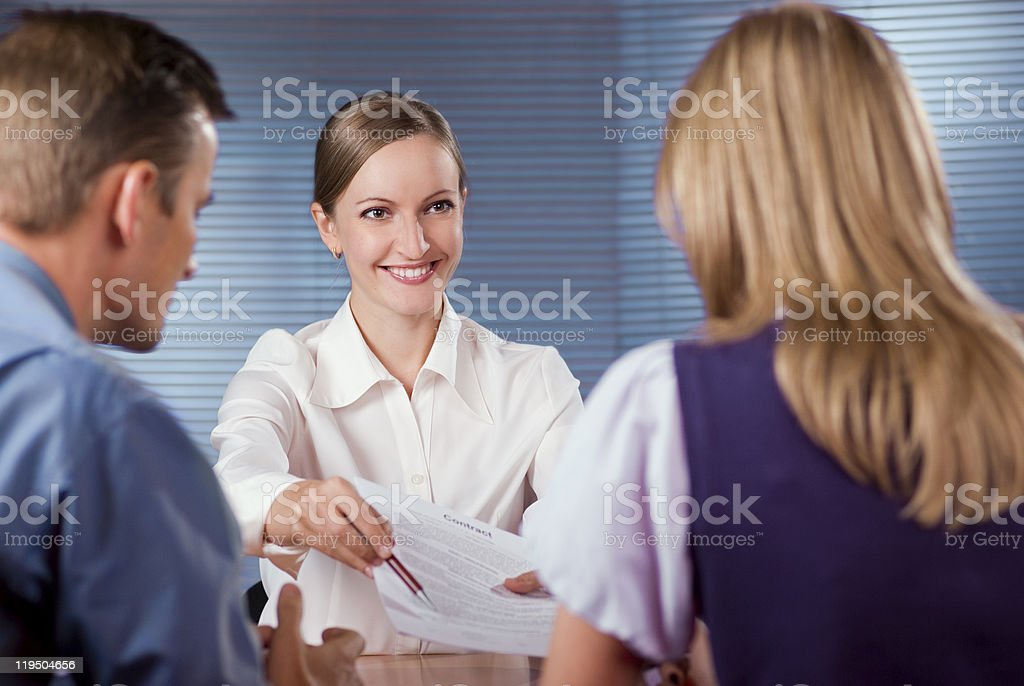 Signing contract royalty-free stock photo