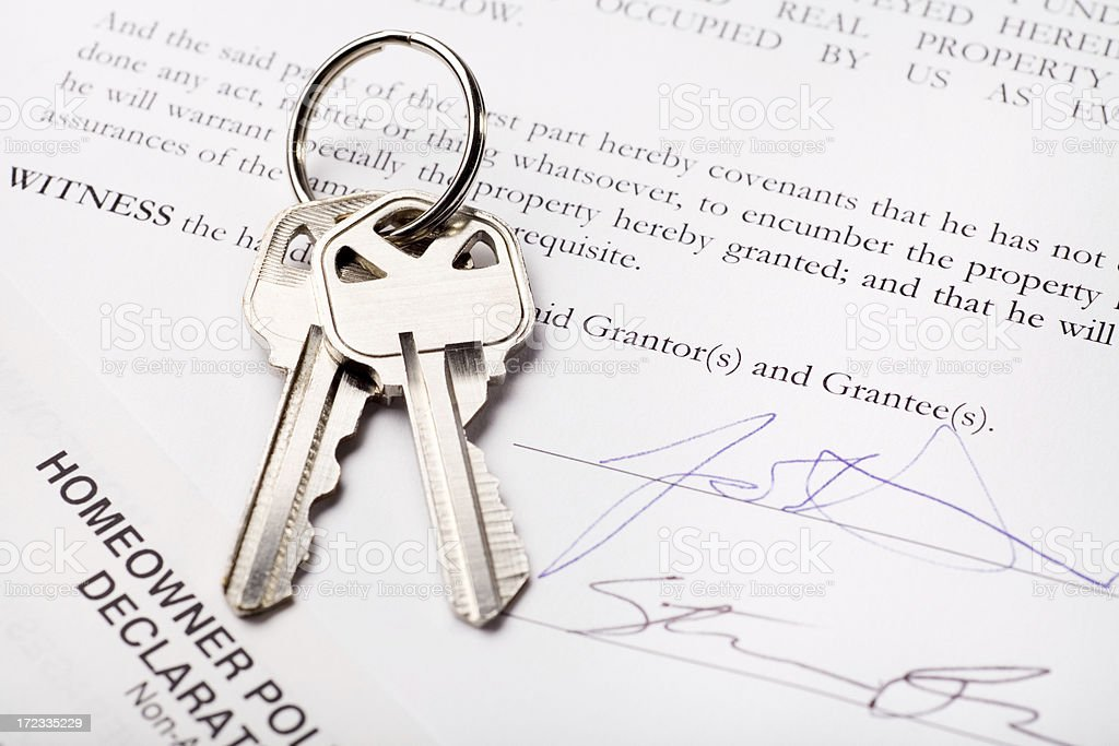 Signing for New HOme royalty-free stock photo
