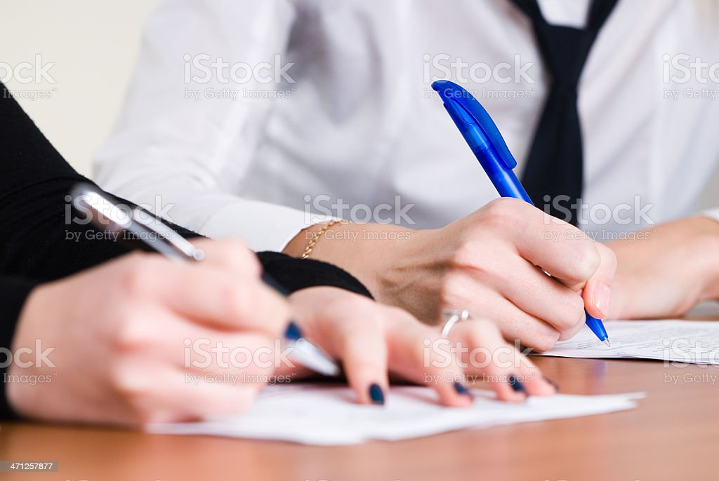 Signing girl royalty-free stock photo
