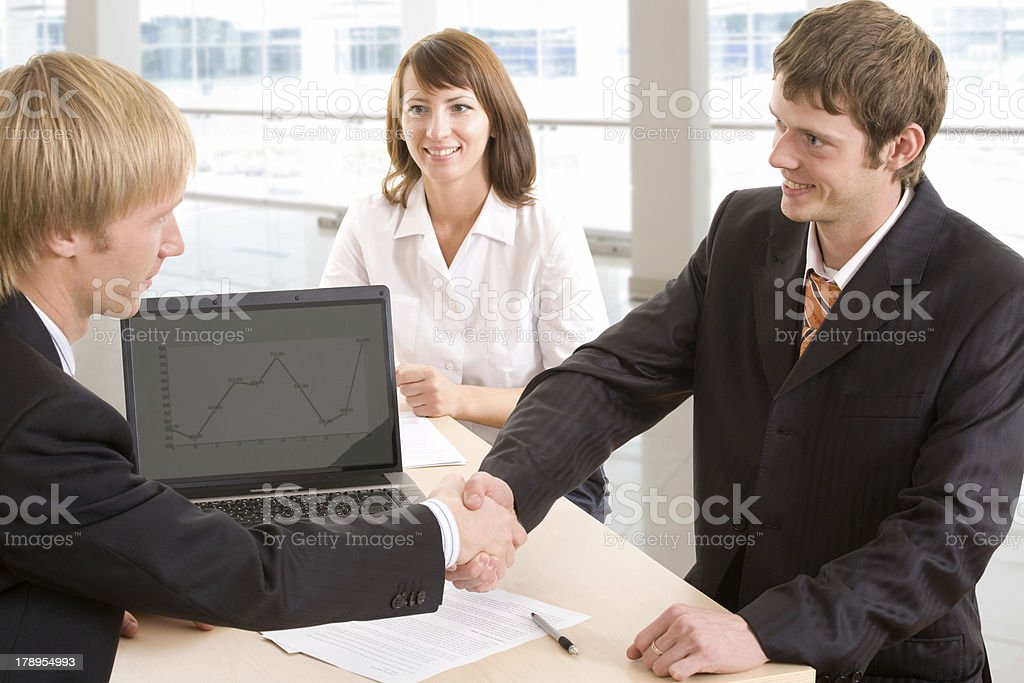 Signing of an agreement royalty-free stock photo