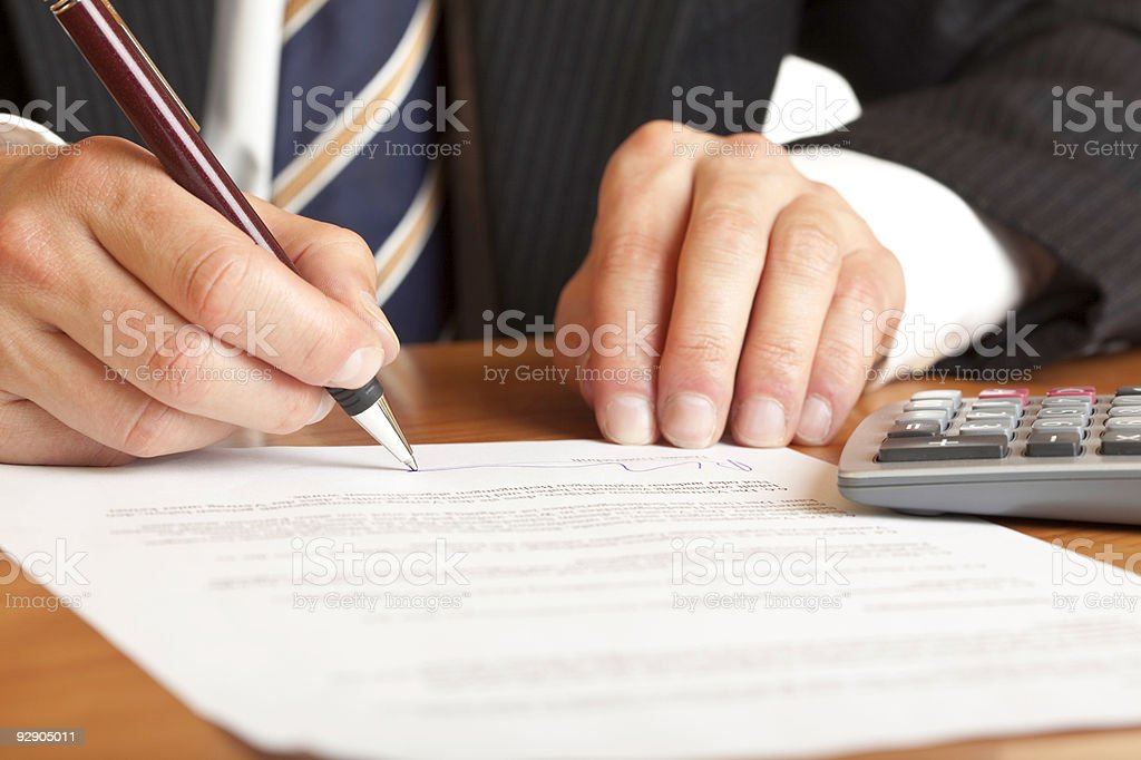 Signing of contract royalty-free stock photo