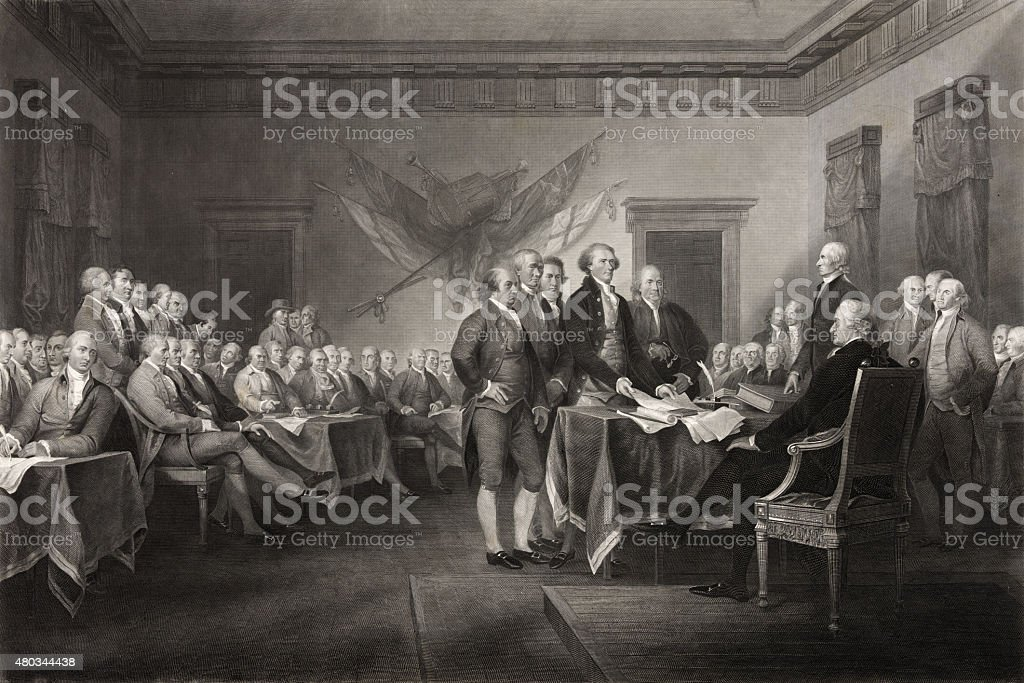Signing of the Declaration of Independence stock photo