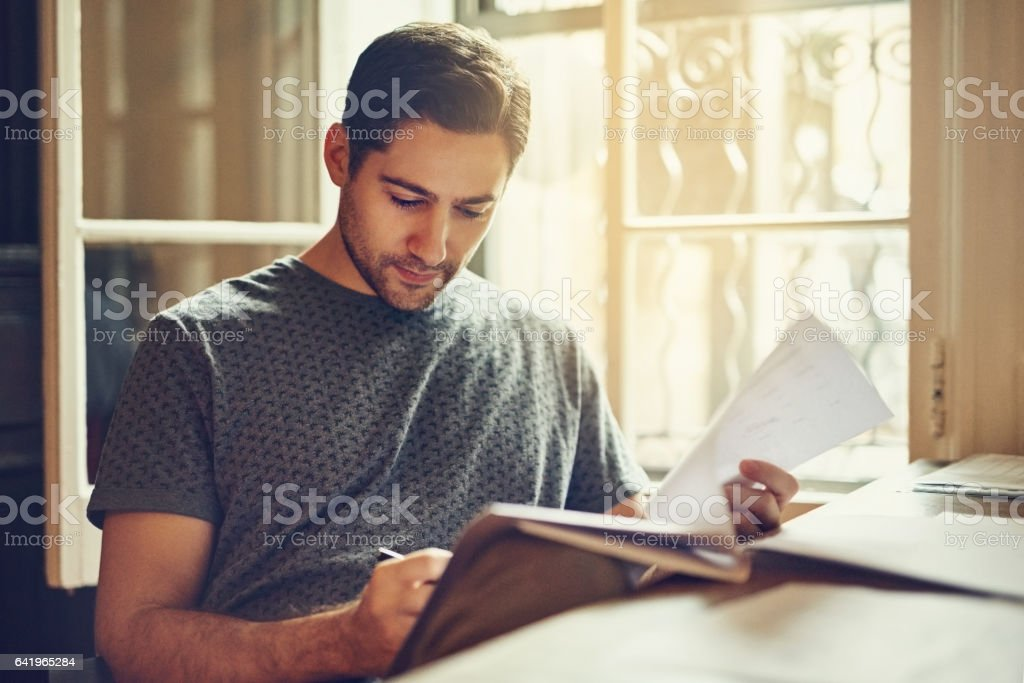 Signing on for another year's  rental stock photo