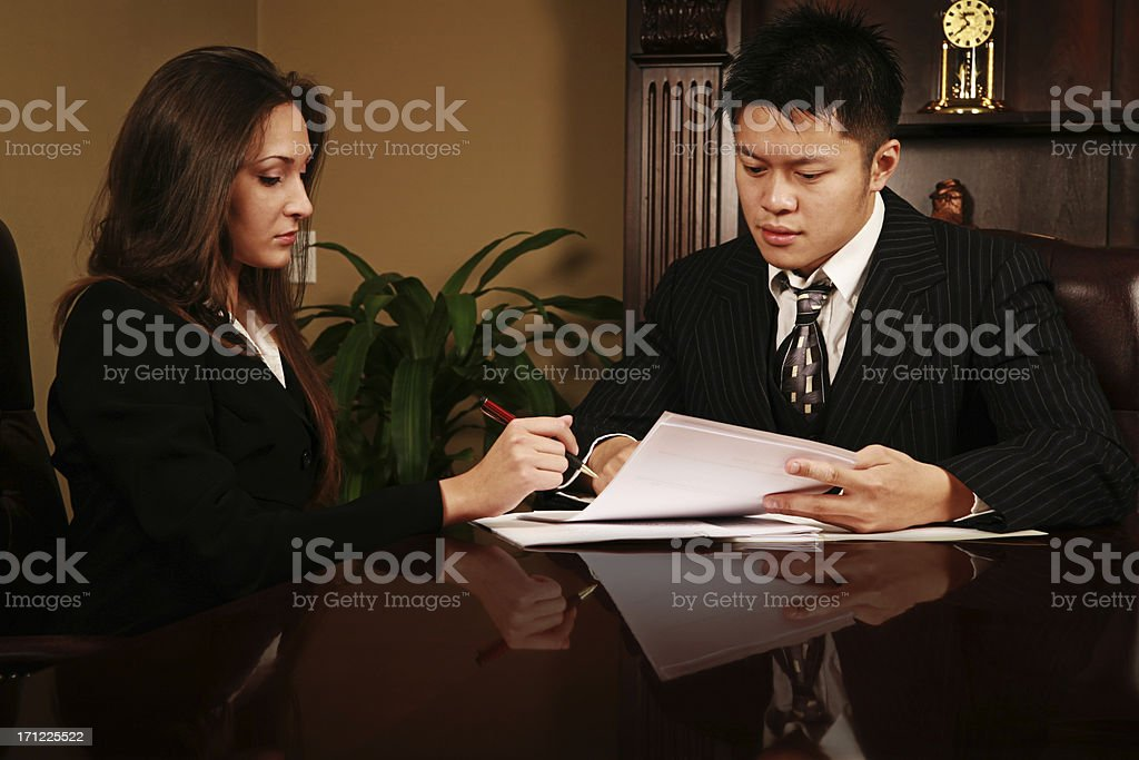 Signing Papers royalty-free stock photo