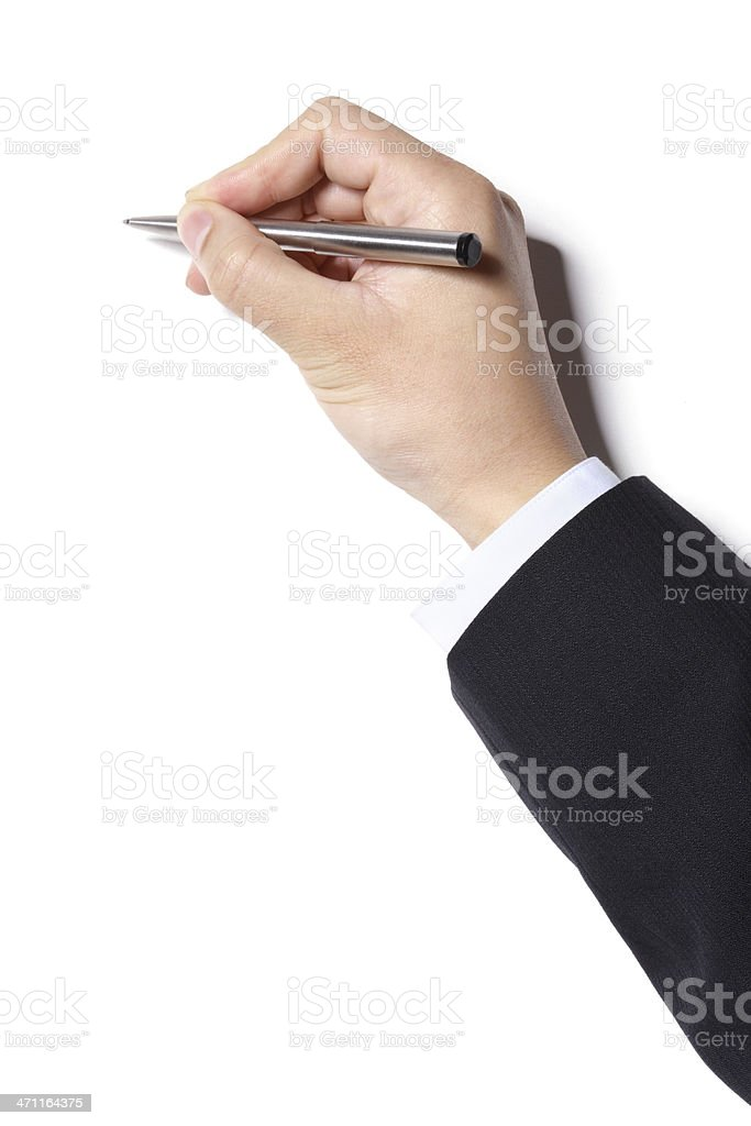 Signing royalty-free stock photo
