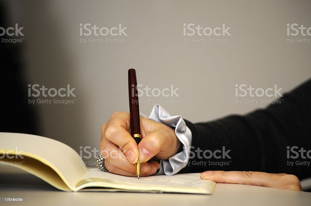 signing the contract royalty-free stock photo