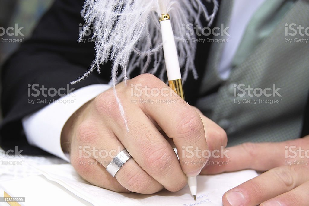 Signing the Guest Book royalty-free stock photo