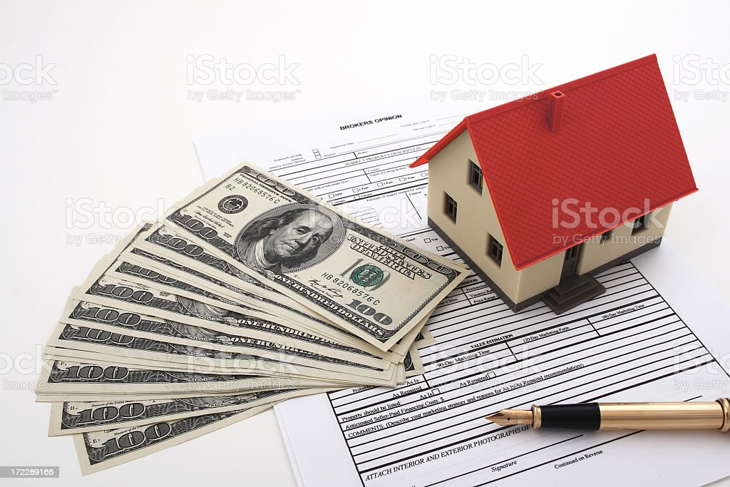 Signing up to buy your new home  royalty-free stock photo