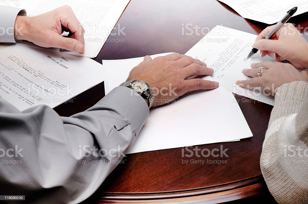 signing will royalty-free stock photo