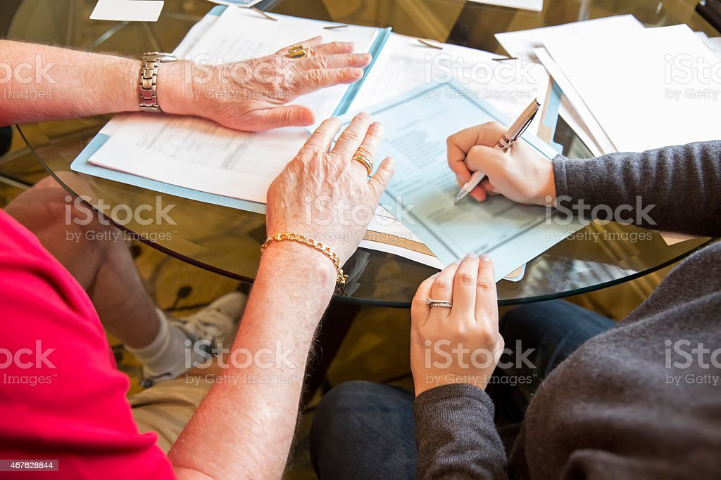 Signing Will stock photo