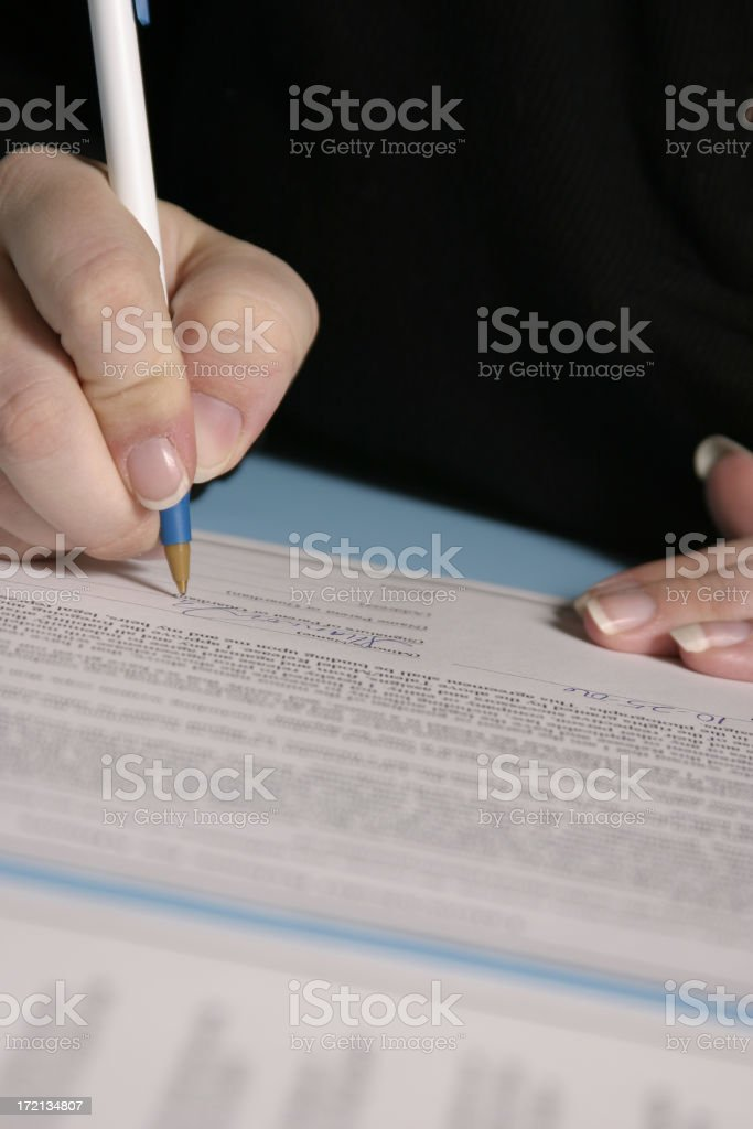 Signing your life away! royalty-free stock photo